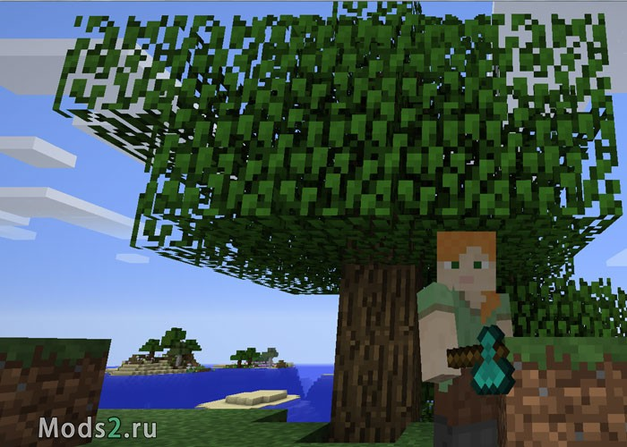 мод на майнкрафт 1.7.10 если срубить дерево #11