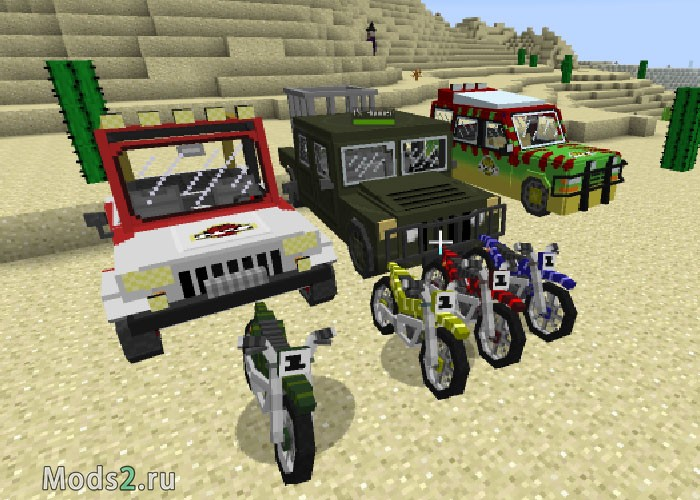 Фото Машины и мотоциклы - Jurassic Craft Vehicles mod [1.7.10]