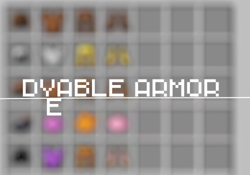 Фото Новая броня - More Dyeable Armors [1.12.2]